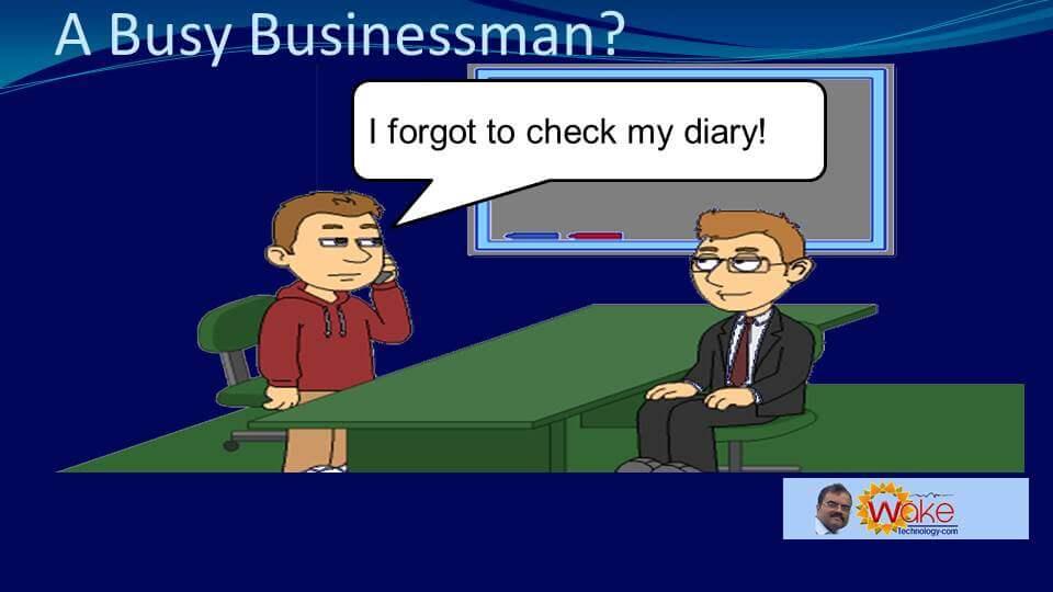 """John says """"I forgot to check my diary"""""""