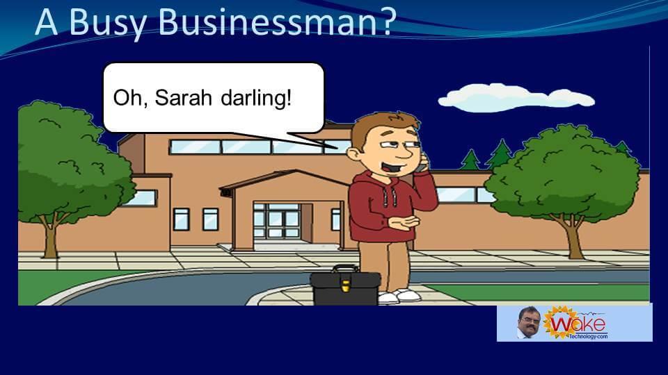 "John says ""Oh! Sarah darling!"""