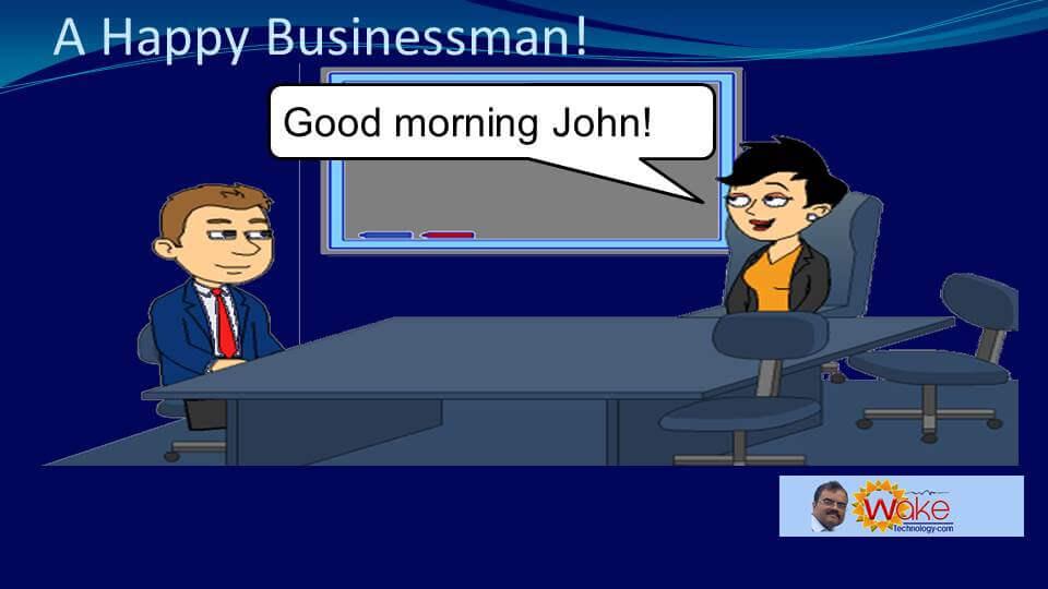 "Amy says ""Good morning John!"""