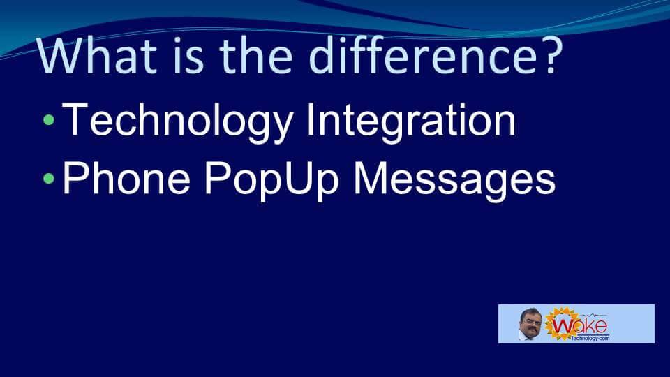 Phone pop-up messages,