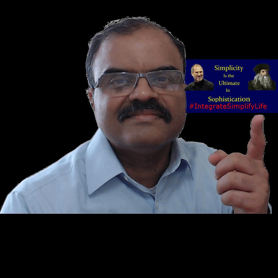 Vivek Pointing Finger At Simplicity Ultimate Sophistication
